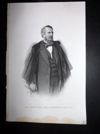 Nolan India C1880 Antique Portrait Print. Right Hon. Lord Lawrence